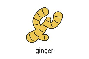Ginger root color icon