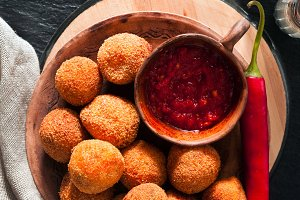 Fried Arancini rice balls