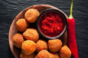 Fried Arancini rice balls