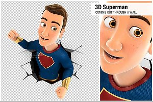 3D Superhero Coming Out