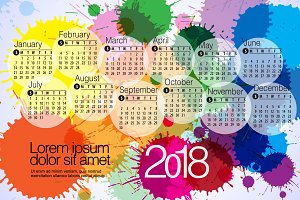 2018 Calendar7