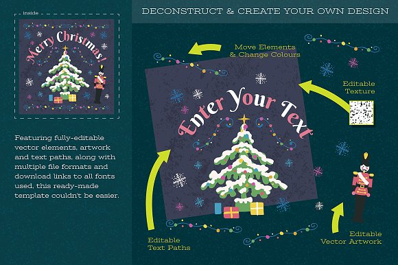Christmas Illustration and Template