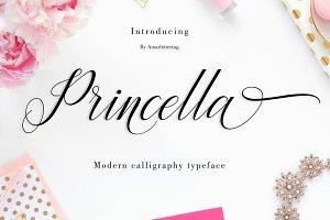 Princella Script | 6 Font | 30% OFF
