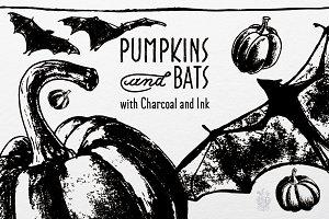 Pumpkins and Bats