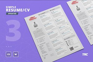 Simple Resume/Cv Template Volume 3