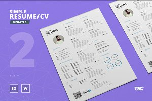 Simple Resume/Cv Template Volume 2