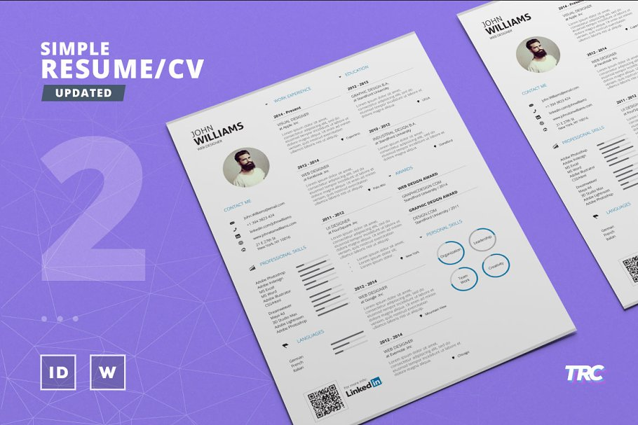 Simple Resume/Cv Template Volume 2 ~ Resume Templates