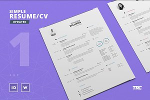 Simple Resume/Cv Template Volume 1