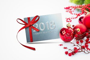 Bundle of New year 2018 cards,banner