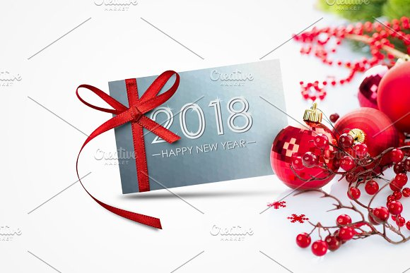 bundle of new year 2018 cardsbanner illustrations