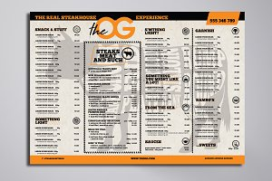 Steakhouse Menu