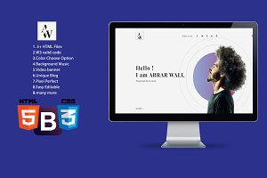 Abrar Wall -Resume HTML template