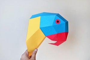 DIY Macaw Parrot - 3d papercraft