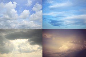 Cloudy sky - the set of 4 images