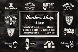 Set of barbershop elements