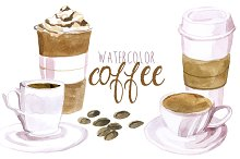coffee watercolor