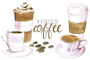 Watercolor Coffee