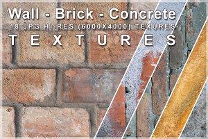 Wall - Brick - Concrete textures