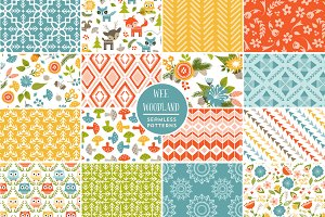 Wee Woodland Vector Patterns