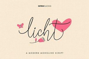 Licht Monoline Script