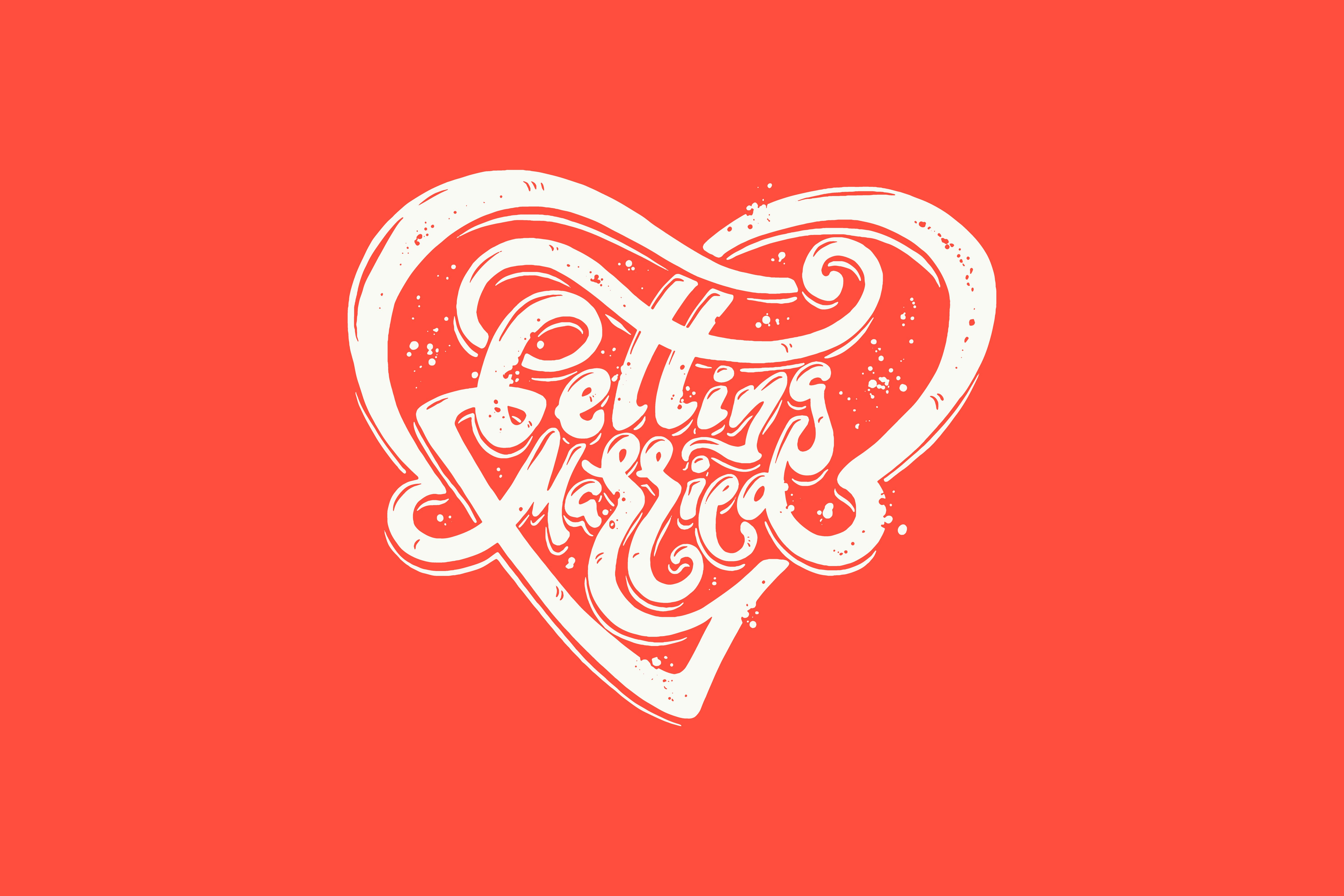 getting married vector lettering ~ Illustrations ~ Creative Market