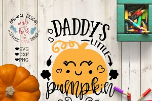 Daddy's Little Pumpkin Cut File