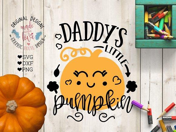 Daddy's Little Pumpkin Cut File