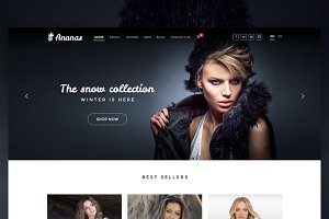 Ananas | Fashion ecommerce web PSD
