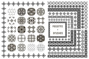 20 Patterns + 14 Pattern Brushes