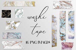 Marble Washi Tape Clipart