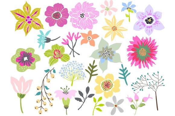 Beautiful Flowers Clip Art 26 Vector ~ Illustrations ...