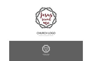 Church logo. Christian symbols.