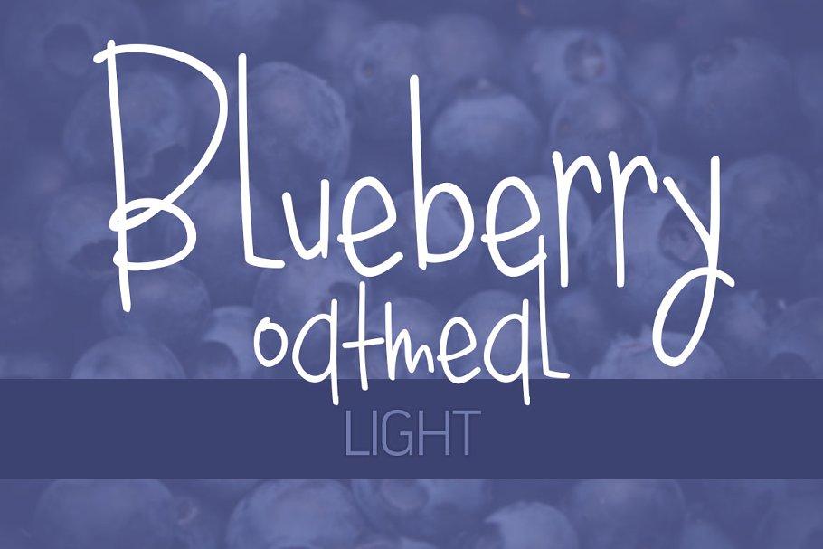 Blueberry Oatmeal Light