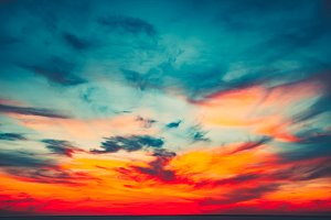 Colorful and Dramatic Sunset Sky Background