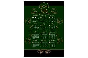 2018 Calendar9