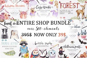 500+ENTIRE SHOP BUNDLE | Watercolors