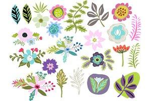 Flowers Clip Art Vector 24 Images