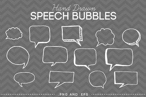 Hand Drawn Doodle Speech Bubbles