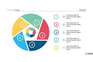Five Steps Circle Slide Template