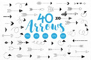 Vector Boho Arrows Bundle Clipart