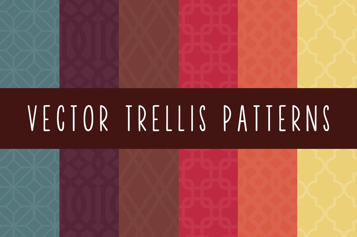 Trellis Patterns Graphic Creative Market