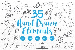 Hand Drawn Vector Elements Clipart