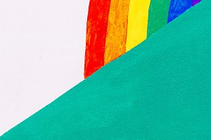 lgbt background rainbow minimal