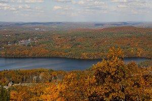 Autumn foliage from mountaintop