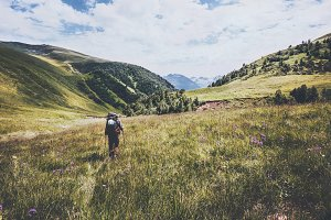 Hiking vacations at wild nature
