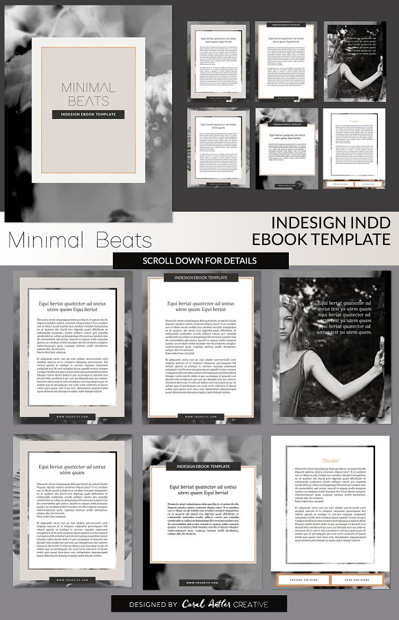 Minimal Beats INDD Template ~ Presentation Templates ~ Creative Market