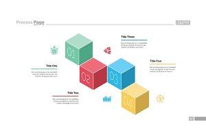 Four Cubes Process Chart Slide Template