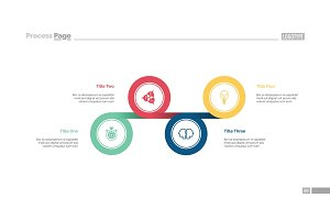 Four Linked Circles Slide Template
