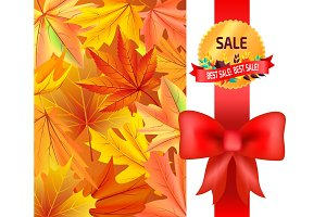 Best Sale Gold Logo Emblem with Leaves Red Ribbon