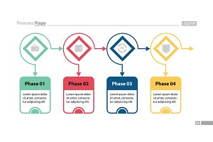Four Options Process Chart Slide Template